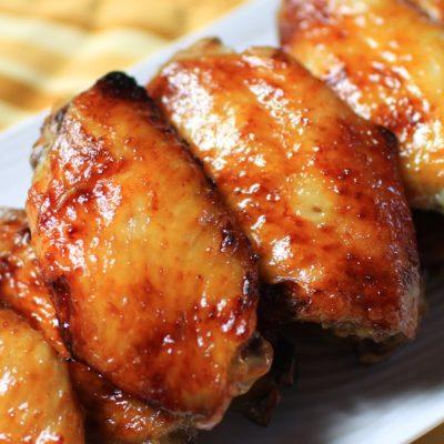 alitas de pollo con miel