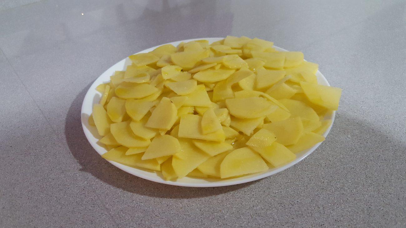Patatas microondas para tortilla