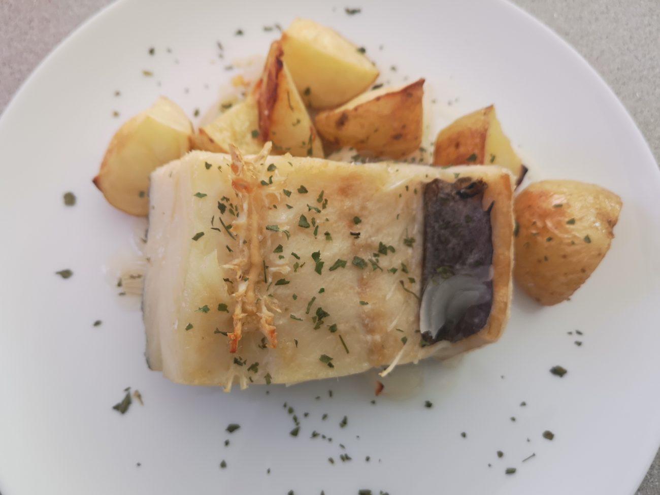 Bacalao al horno (Bacalhau asado)